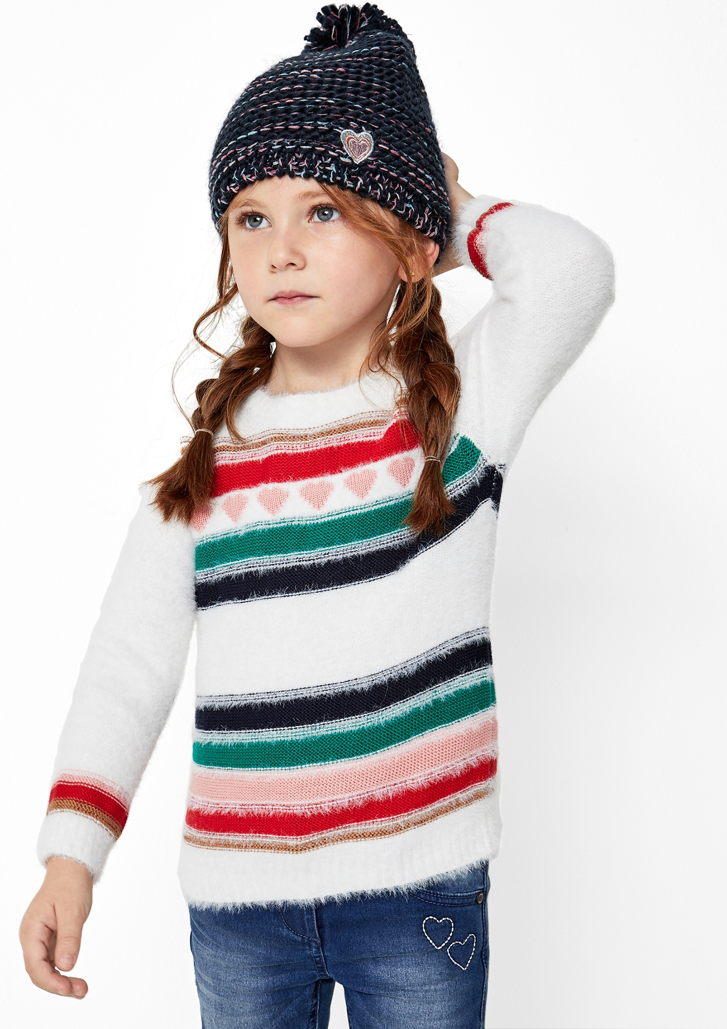 s.Oliver Junior Kids Girls theme Warme Bommelmütze Neu