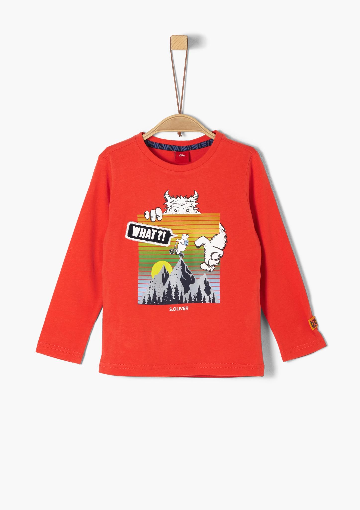 s.Oliver Junior Kids Boys Langarmshirt mit Printmotiv Neu