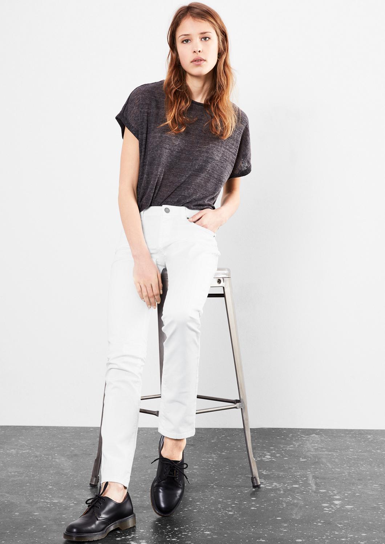Q//S designed by Damen Catie Slim Coloured Denim Neu
