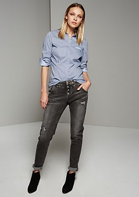 Classic shirt blouse with a sophisticated minimal pattern from s.Oliver