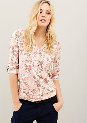 Extravagant long sleeve blouse in flowing material from s.Oliver