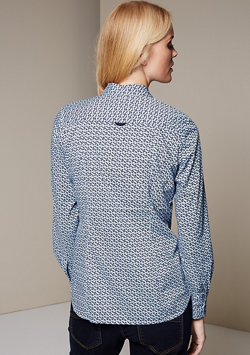 Classic shirt blouse with a beautiful minimalist pattern from s.Oliver