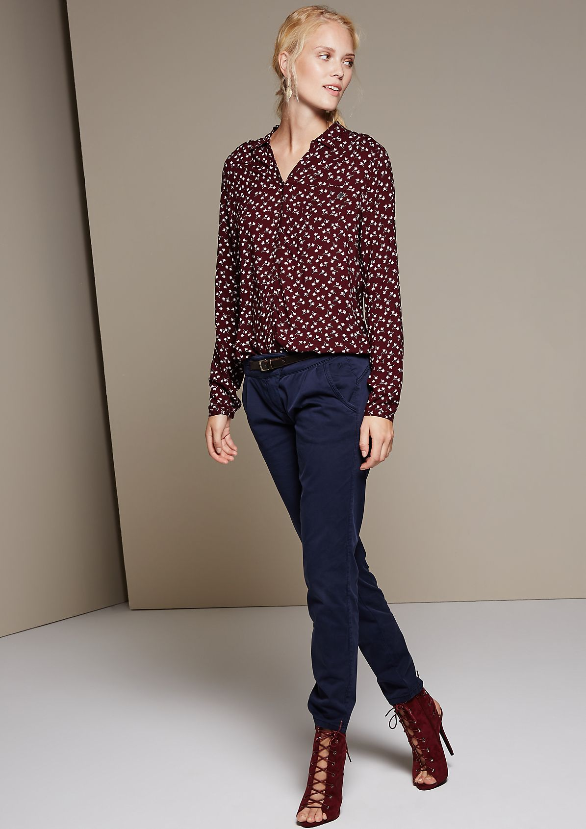 Beautiful long sleeve blouse with an elegant all-over pattern from s.Oliver