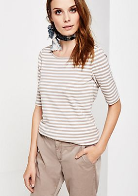 Lightweight short sleeve jersey top with a classic striped pattern from s.Oliver