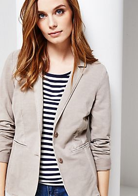 Casual blazer with a subtle vintage finish from s.Oliver