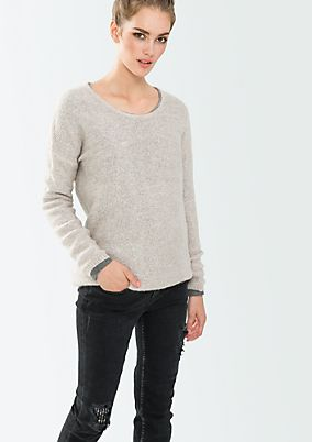 Elegant chunky knit jumper in a classic design from s.Oliver
