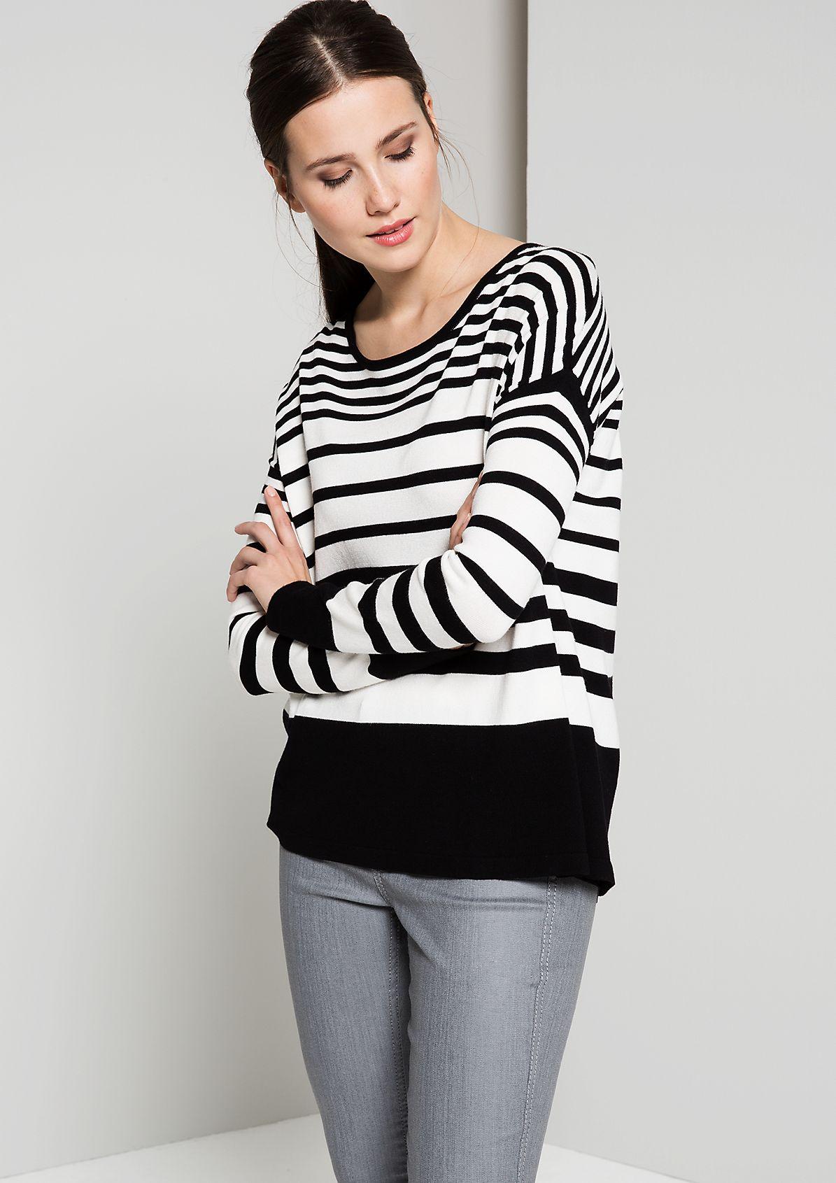 Smart knit jumper with fantastic details from s.Oliver