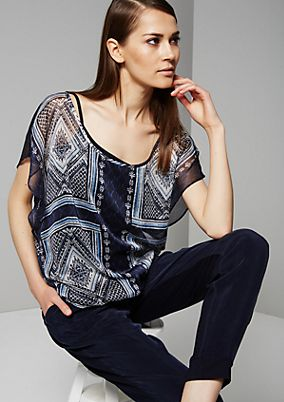 Delicate chiffon blouse with a decorative pattern from s.Oliver
