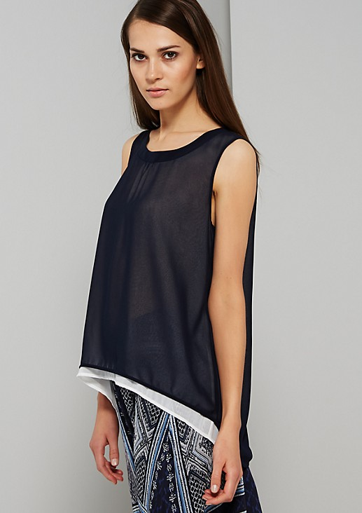 Delicate chiffon top in a layered look from s.Oliver