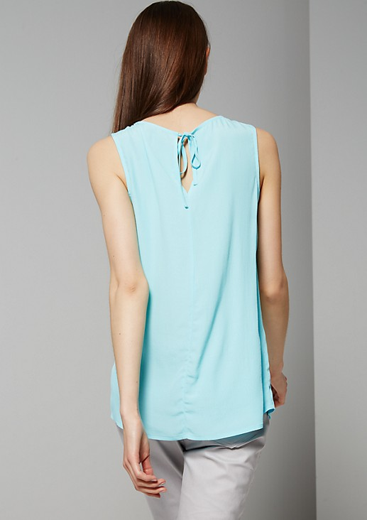 Semi-sheer crêpe blouse with fine design features from s.Oliver