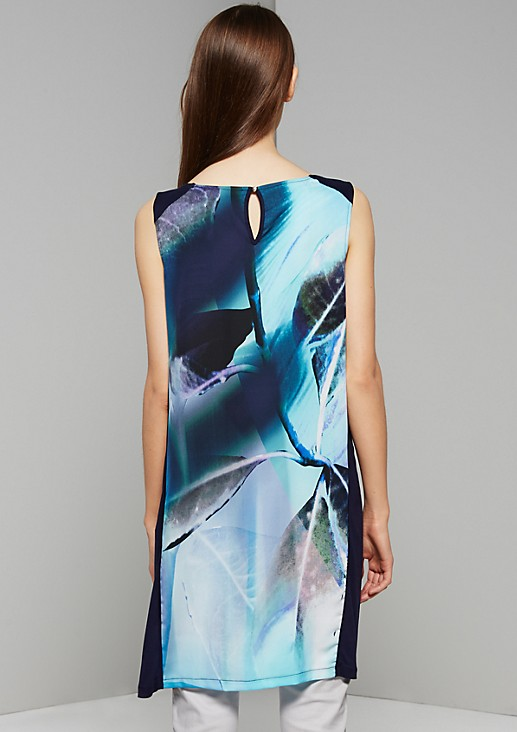 Feminine satin top with a floral photo print in gorgeous colours from s.Oliver