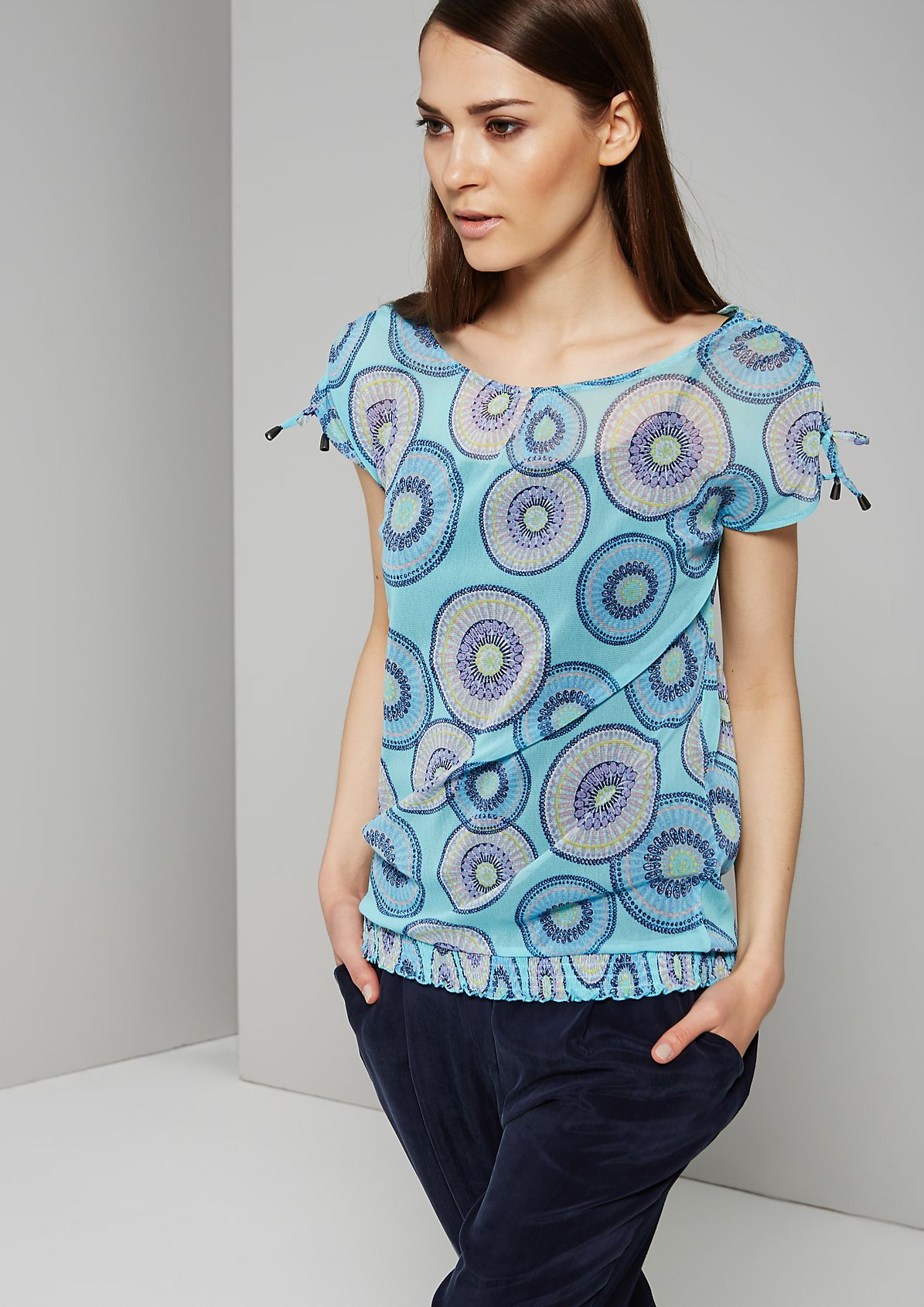 Delicate mesh top with a beautiful retro pattern from s.Oliver
