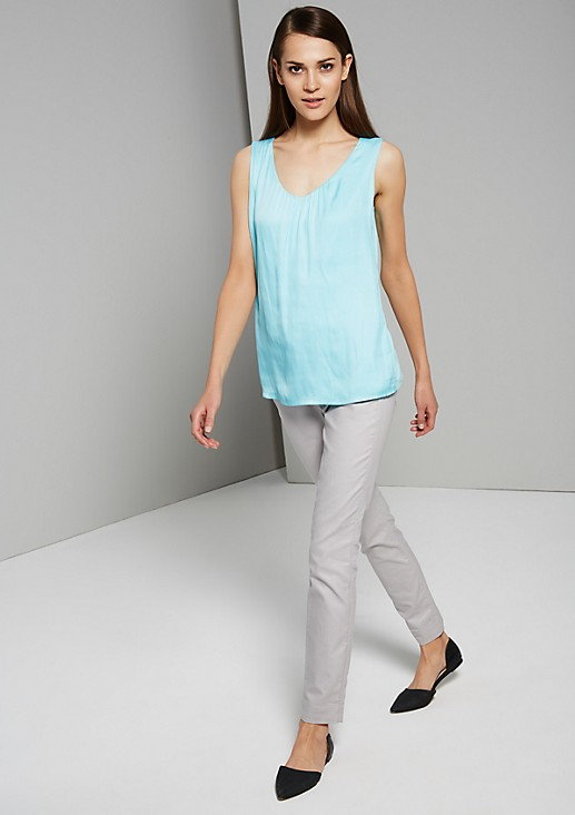 Sophisticated basic top in a mix of materials from s.Oliver