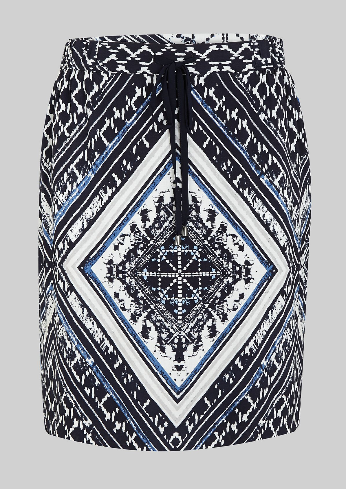 Lightweight summer skirt with a beautiful ornamental pattern from s.Oliver