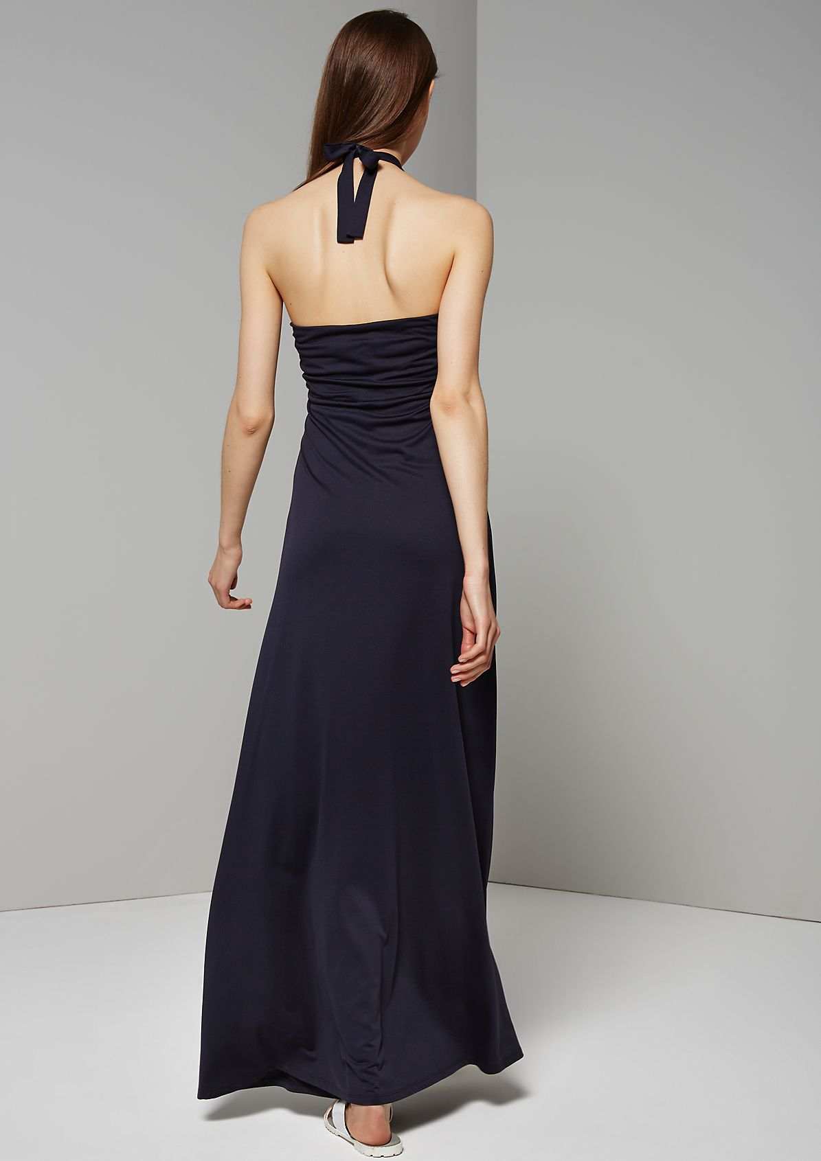 Halterneck summer dress with sophisticated details from s.Oliver