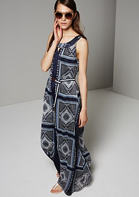 Elegant chiffon dress with a fabulous pattern from s.Oliver