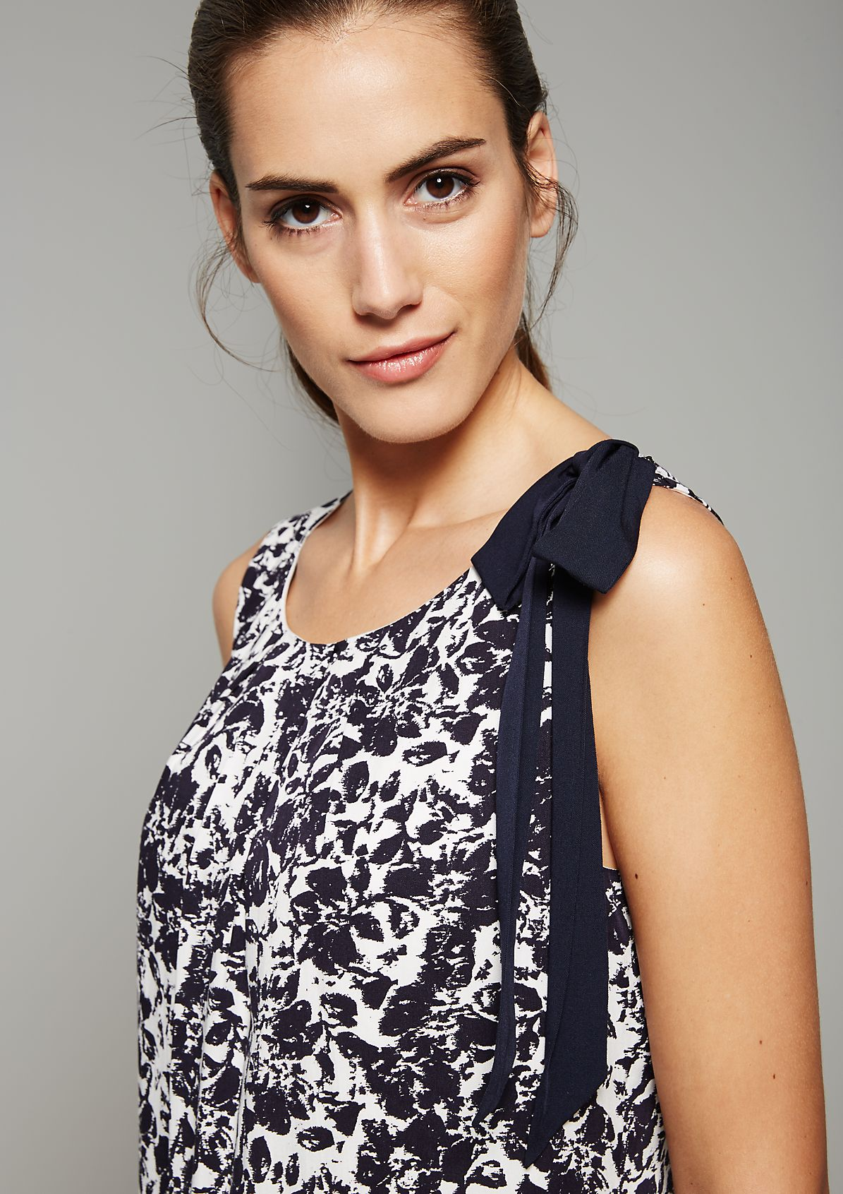 Lightweight summer dress with an abstract floral print from s.Oliver