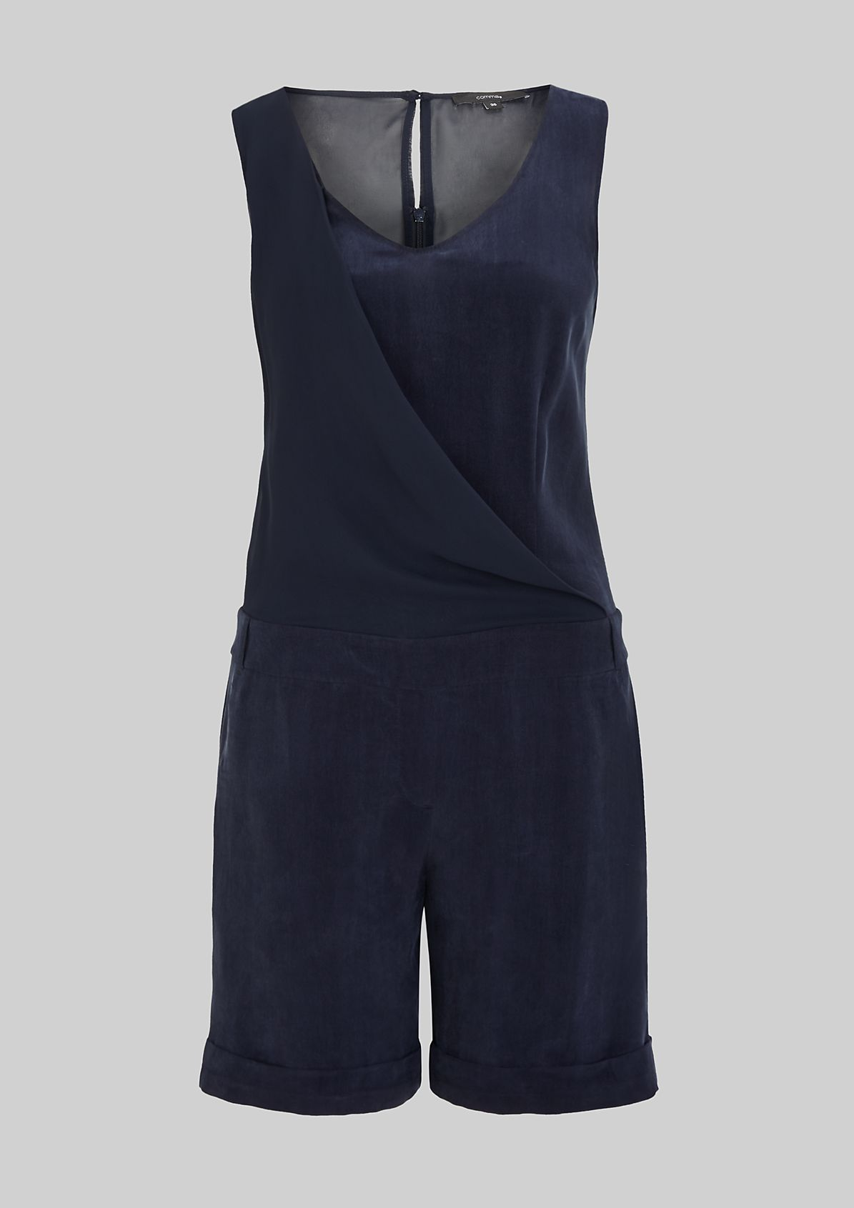 Short jumpsuit made from soft cupro from s.Oliver