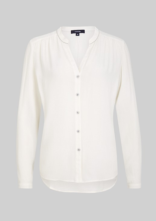 Lightweight crepe blouse with fine details from s.Oliver