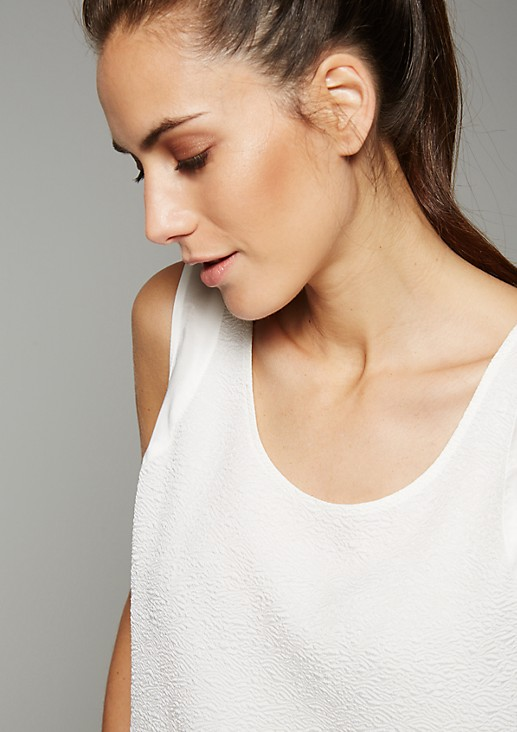 Whimsical top with a sophisticated surface texture from s.Oliver