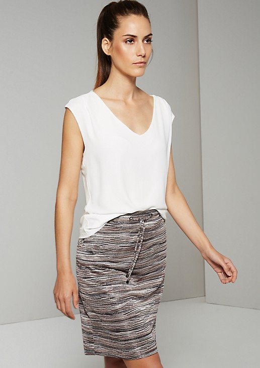 Simple top in a mix of materials from s.Oliver