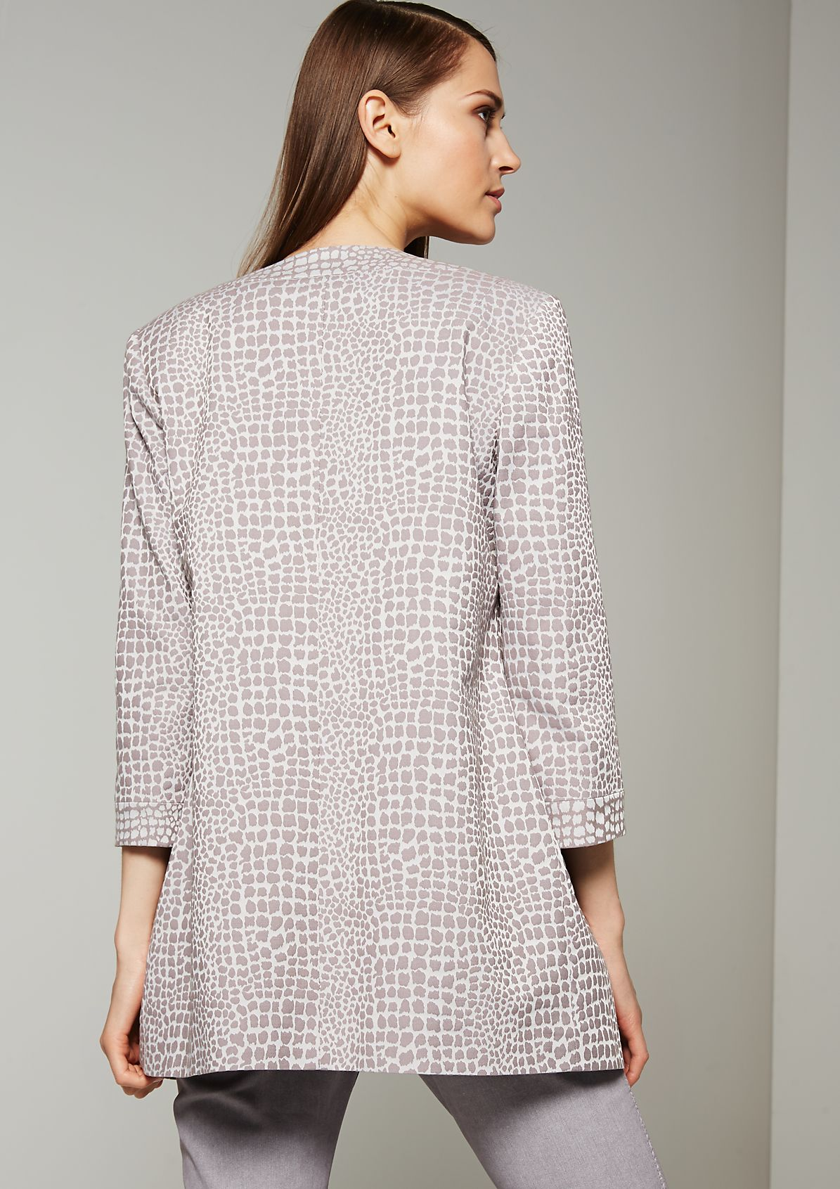 Elegant jacquard coat with a shiny metal pattern from s.Oliver