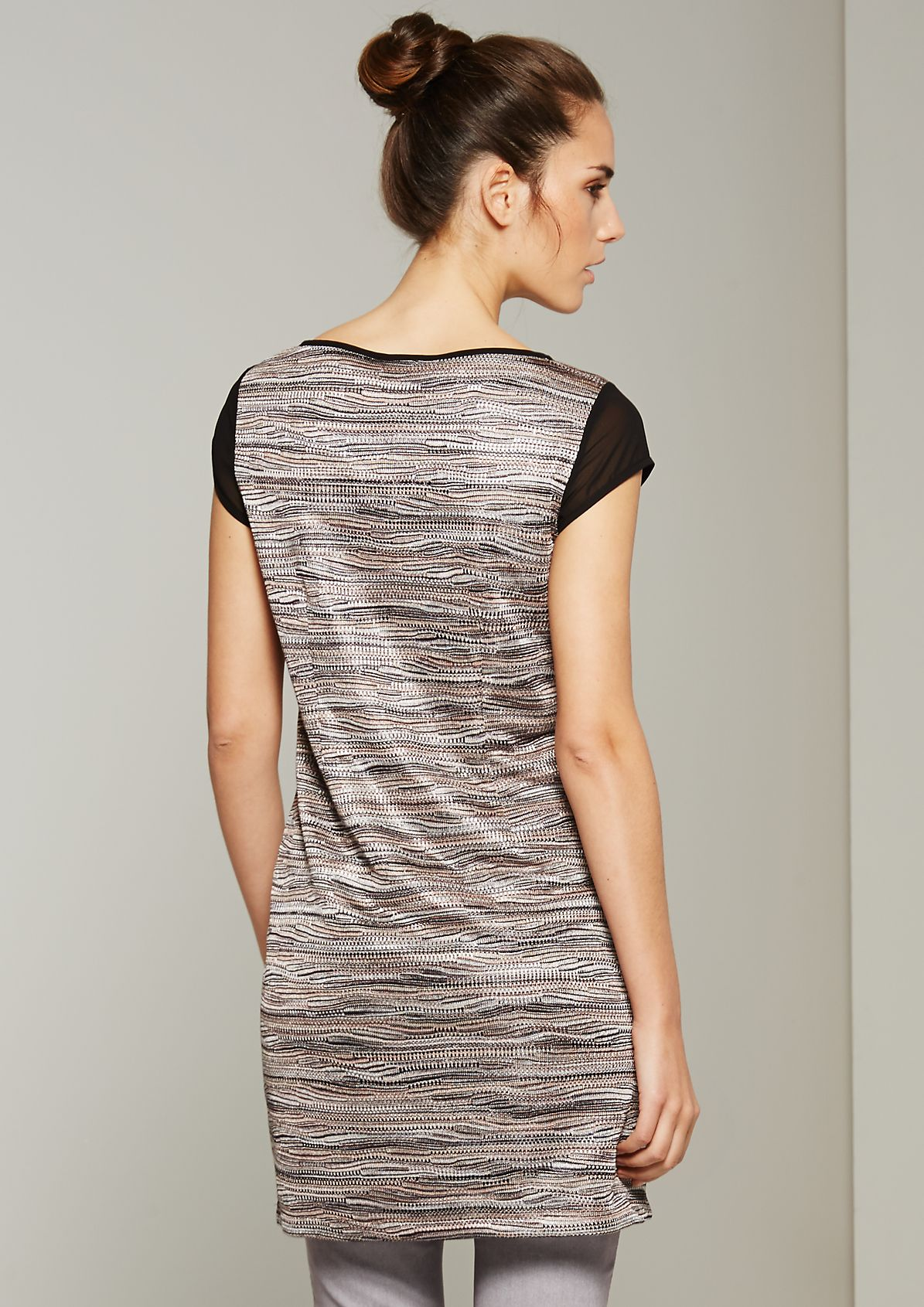 Extravagant longline top with a decorative multi-coloured pattern from s.Oliver