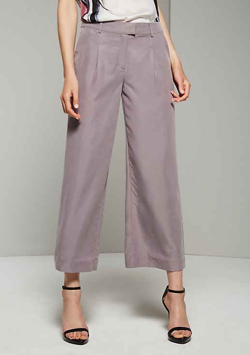 Trendy culottes with beautiful details from s.Oliver