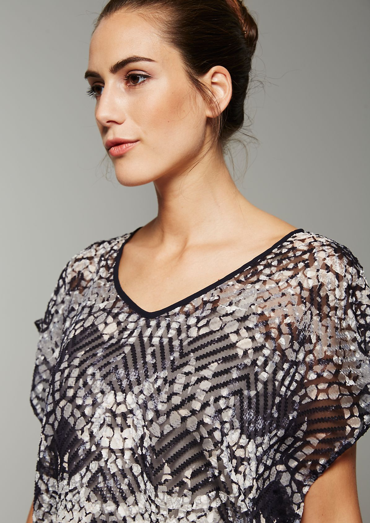 Delicate top in a trendy ethnic look from s.Oliver