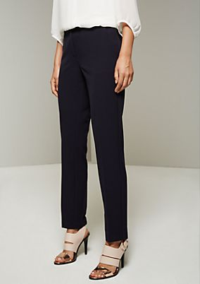 Classic business trousers with elegant details from s.Oliver