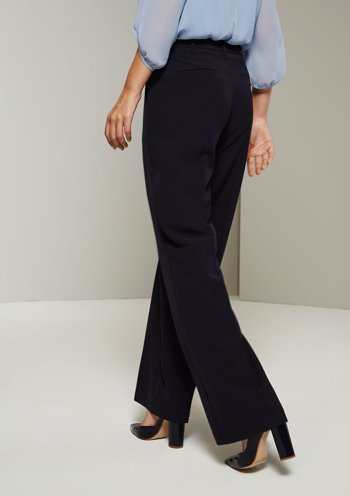 Elegant business trousers with fine design features from s.Oliver