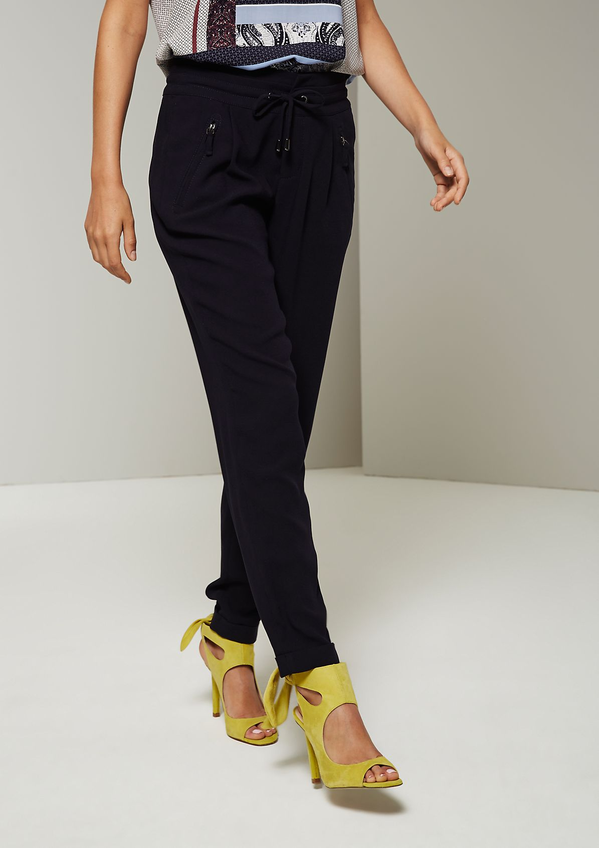 Sporty trousers with fantastic details from s.Oliver