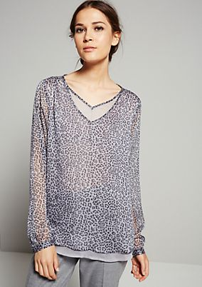 Delicate chiffon blouse with a fabulous pattern from s.Oliver