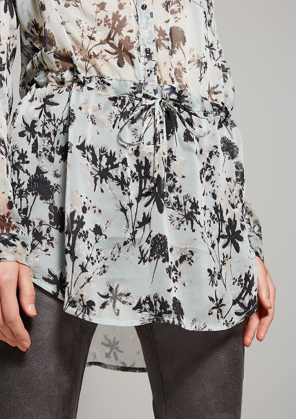 Delicate chiffon blouse with an exciting animal print from s.Oliver