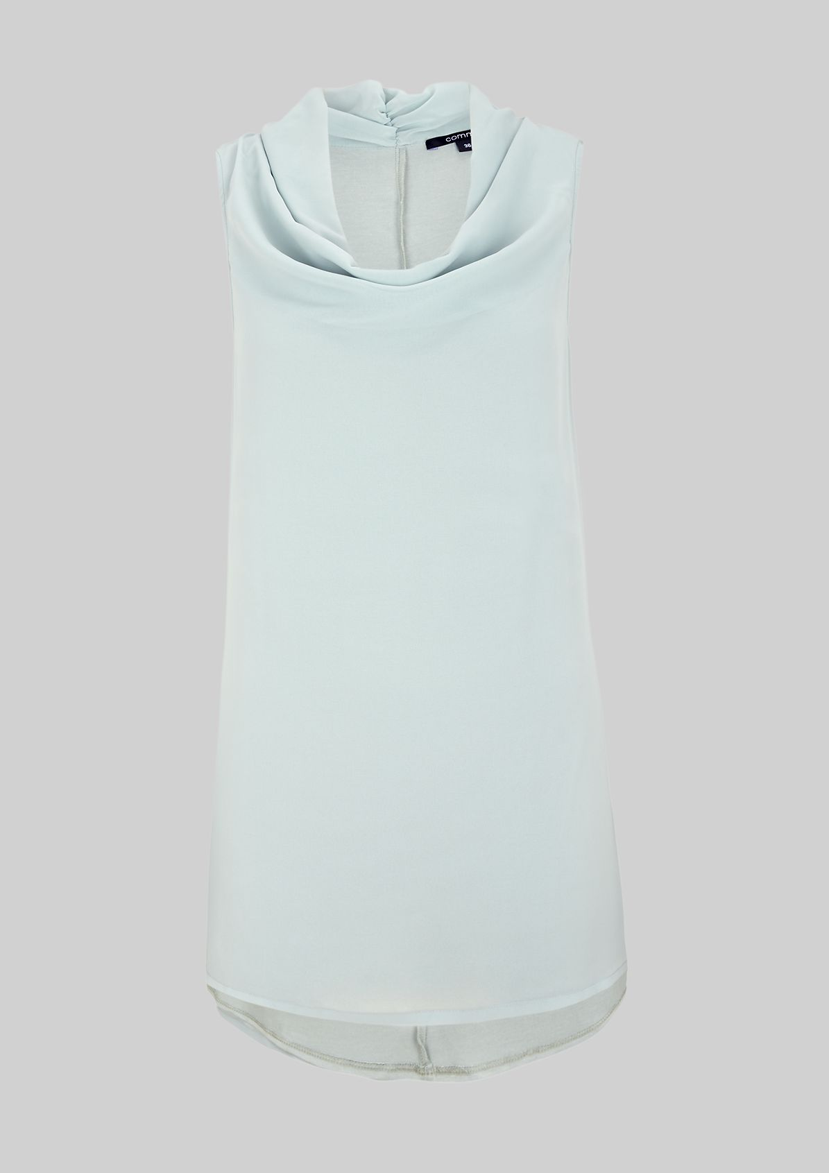 Elegant crêpe top with a flowing cowl neckline from s.Oliver