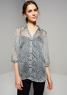 Delicate chiffon blouse with 3/4-length sleeves from s.Oliver