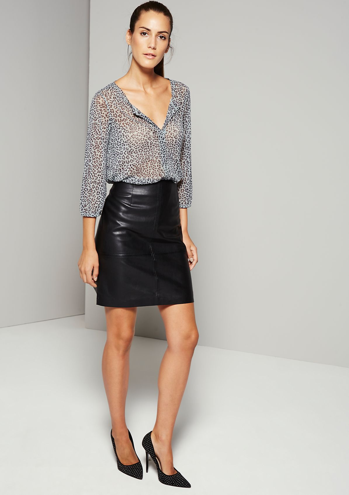 Delicate mesh blouse with an exciting all-over pattern from s.Oliver