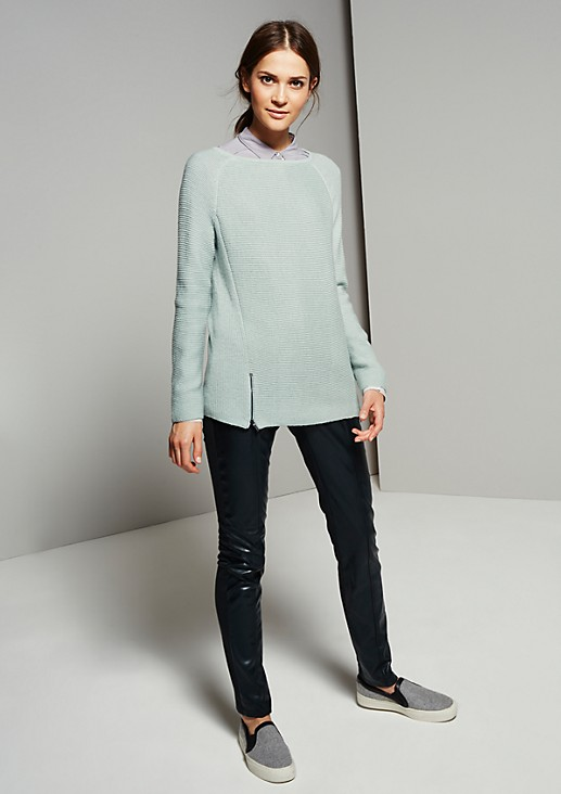 Chunky knit jumper in a pretty mix of patterns from s.Oliver