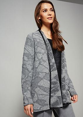 Feminine cardigan with an abstract two-tone pattern from s.Oliver