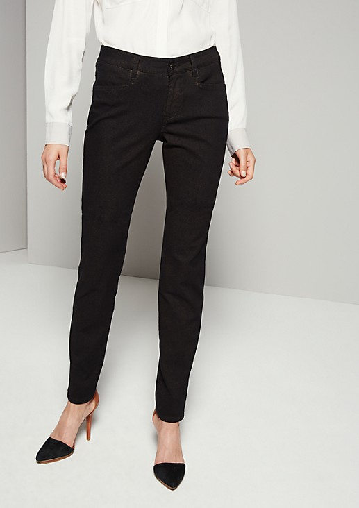 Feminine trousers with a subtle snakeskin pattern from s.Oliver