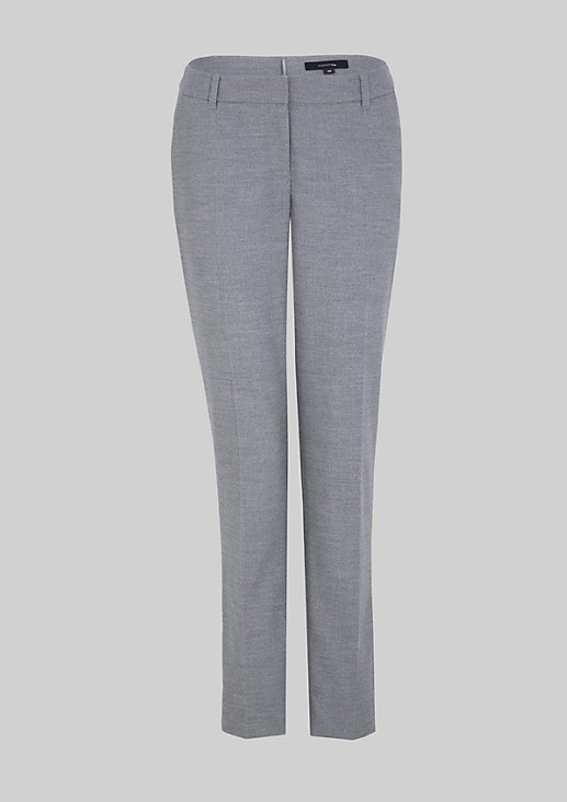 Elegant flannel trousers with an extra soft texture from s.Oliver