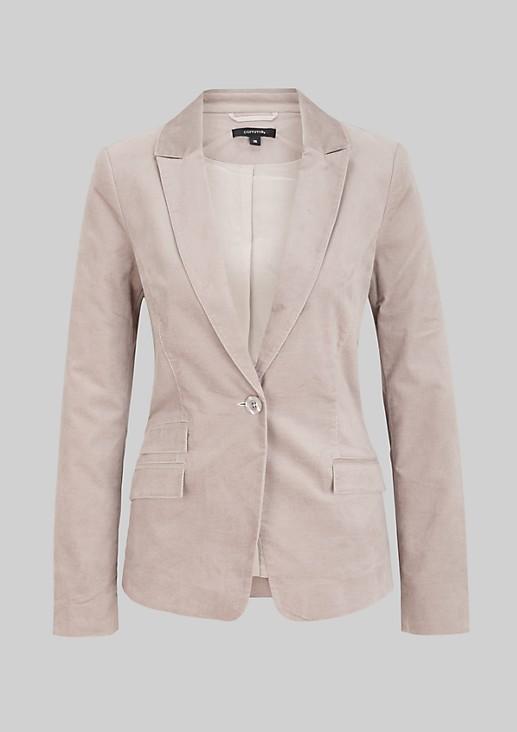 Feminine business blazer in ultra-soft velvet from s.Oliver