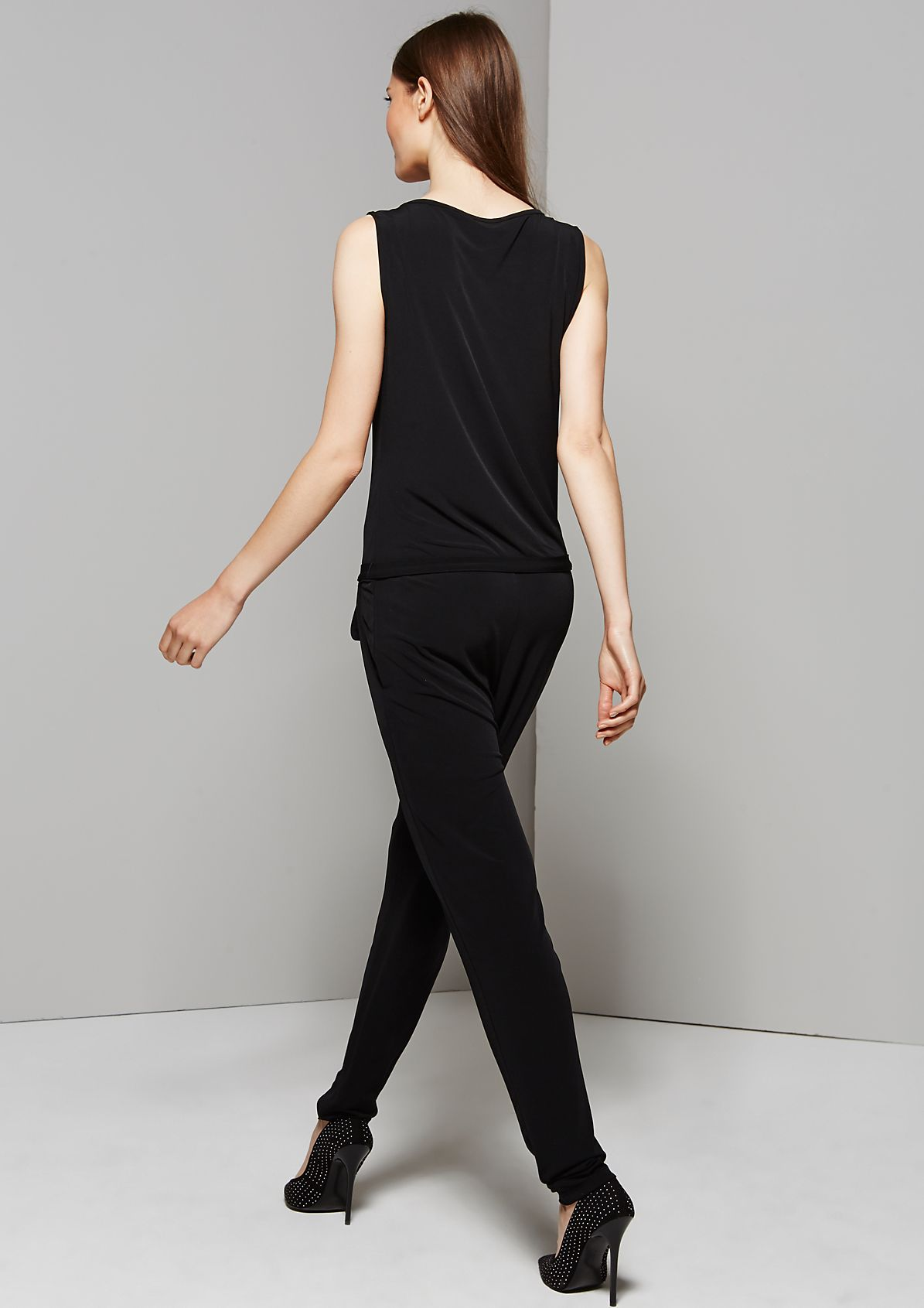 Elegant jumpsuit with sophisticated decoration from s.Oliver