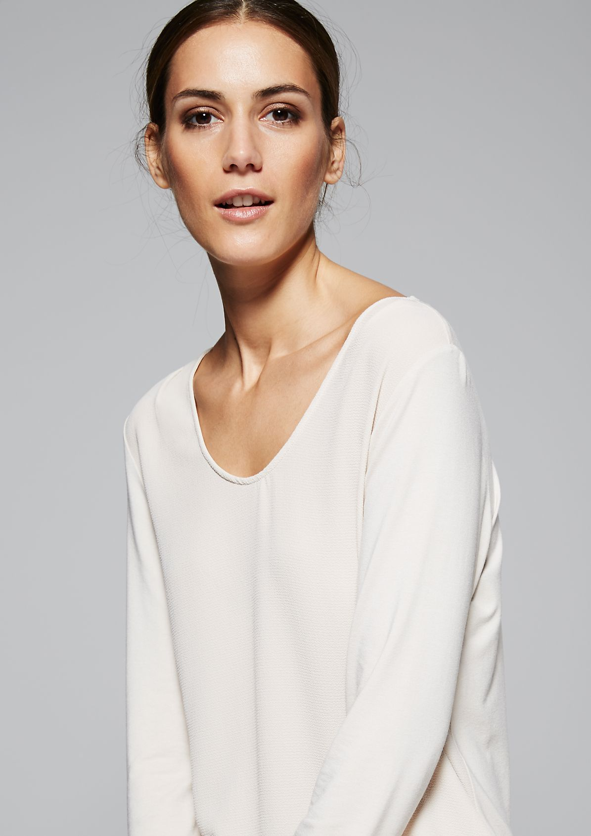Delicate long sleeve top in a pretty mix of materials from s.Oliver