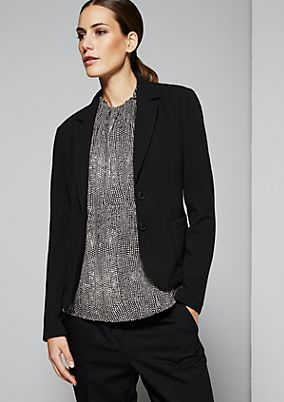 Casual blazer with a fascinating pattern from s.Oliver
