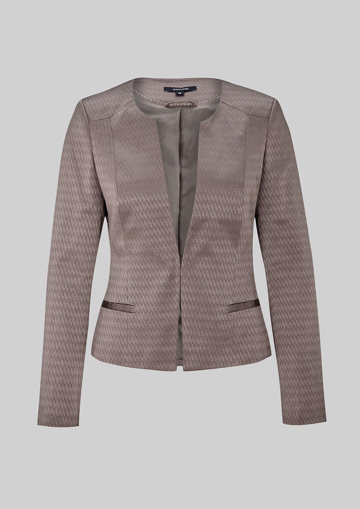 Elegant blazer in a glamorous jacquard design from s.Oliver