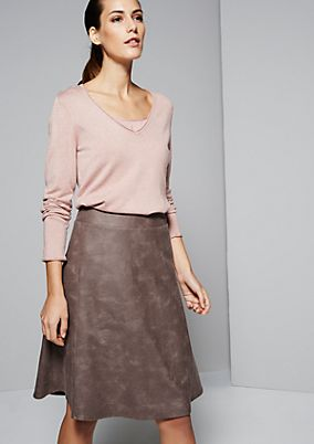 Classic knit jumper in a mix of fabrics from s.Oliver