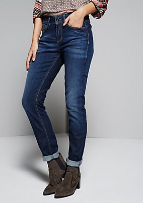Casual boyfriend jeans with a vintage finish from s.Oliver