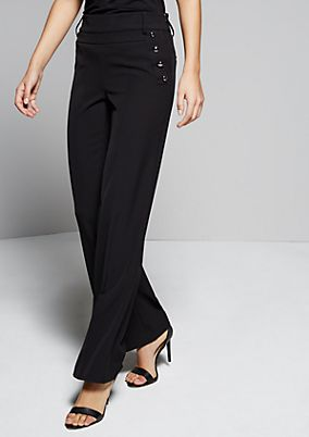 Extravagant twill trousers with decorative details from s.Oliver