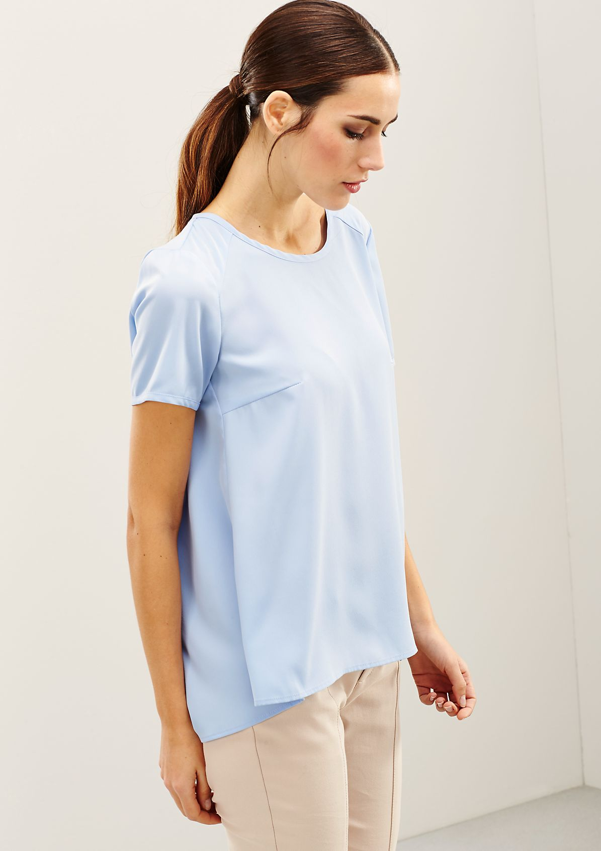 Elegant short sleeve blouse with decorative puckers from s.Oliver